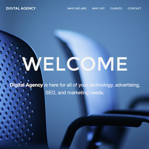 Mockup for a digital agency website